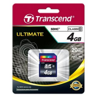 Transcend TS4GSDHC10 4GB SDHC CARD (SD 3.0 SPD Class 10)